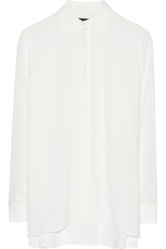 The Row Carlton Oversized Crepe Blouse Net A Porter.Com