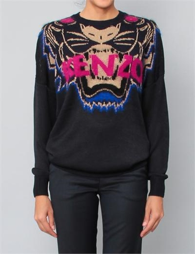 Kenzo Big Kenzo Tiger Sweater Black