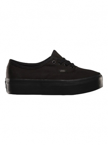 Shoes Vans Authentic Platform Black Black
