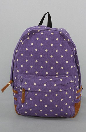 Amazon com Accessories Boutique The Dot Print Backpack in Purple Bags Handbags Totes for Women Clothing
