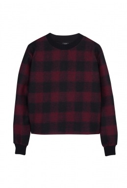 Joseph Burgundy Plaid Sweatshirt By Joseph