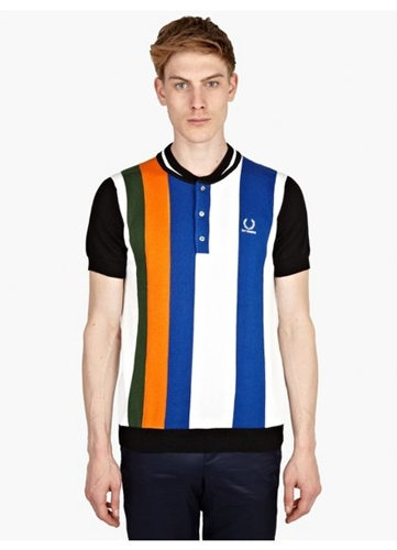 Men's Bomber Neck Knitted Polo Shirt