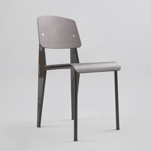 Vitra Standard Sp Chair Dark Oak Black