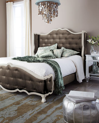 Haute House Taupe Tabitha Tufted Bed