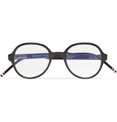 Thom Browne Round Frame Acetate Optical Glasses Mr Porter