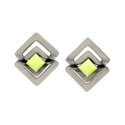 Nyla Neon Silver Earrings by Camilla James Designer New In Jewellery Kabiri Jewellery Store Online