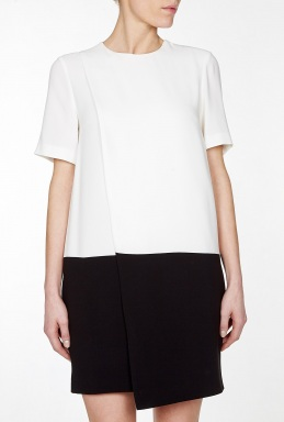 Joseph Starr Silk Crepe Monochrome T Dress By Joseph