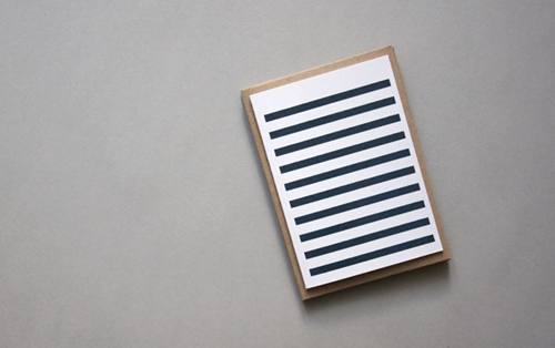 Navy Stripetown Card Karte Design Fabrik