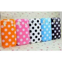 Samsung Galaxy Ace Polka Dot Case Cover Hoesje tagged at Phonextra