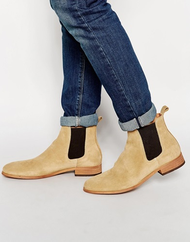 shoe the bear suede chelsea boots beige nuji. Black Bedroom Furniture Sets. Home Design Ideas