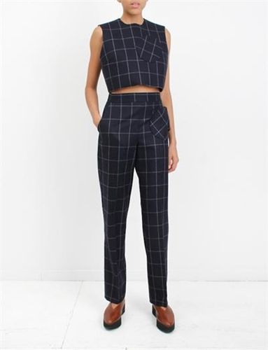 Jacquemus Le Top Carreaux Navy Check