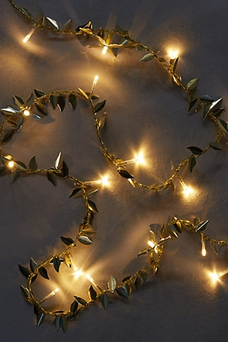 Gilded Garland String Lights Anthropologie.Com