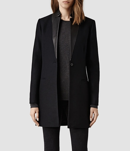 Womens Lorie Coat Ink Allsaints.Com