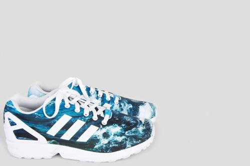 Adidas Originals By Originals Zx Flux Photo Print Ocean Baskets Chaussures