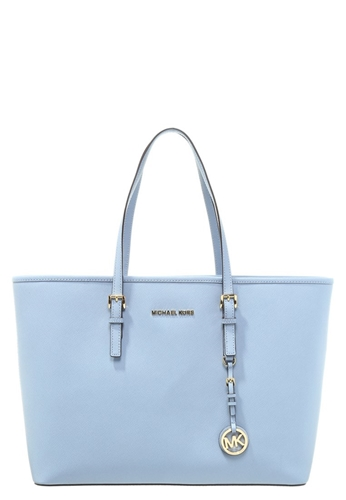 michael michael kors jet set travel tote bag pale blue light blue. Black Bedroom Furniture Sets. Home Design Ideas
