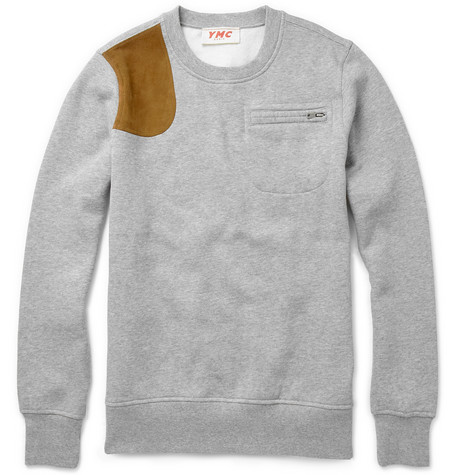 YMC Shoulder Patch Sweater MR PORTER