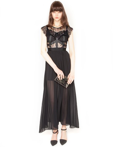 Lace Cage Dress Black Lace Maxi Dress Black Lace Gown 75