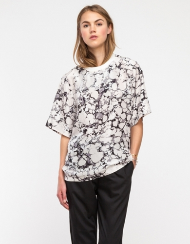 Genevie Blouse In Marble Camo