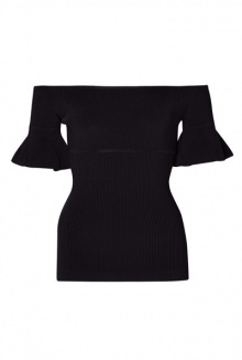 Micro Rib Couture Frill Jumper By Carven