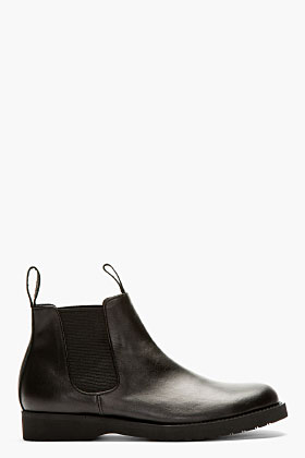 Comme Des Garcons Black Chelsea Boots For Women Ssense
