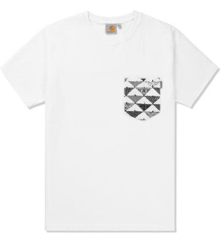 Carhartt Work In Progress White Quilt Print S S Olson Pocket T Shirt Hypebeast Store. Shop Online For Men's Fashion Streetwear Sneakers Accessories