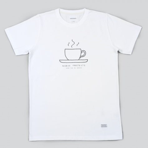 Norse Projects Niels Monday Tea Cup Tee White