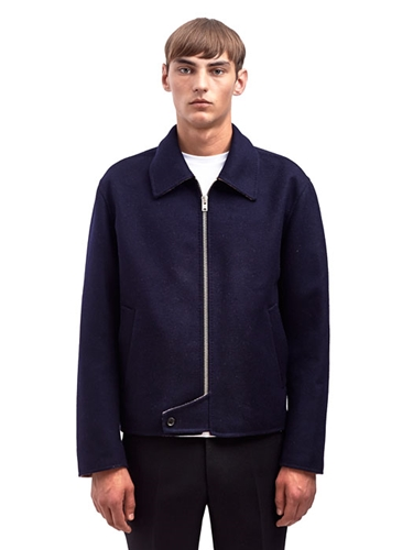 Yang Li Mens Virgin Wool Harrington Jacket