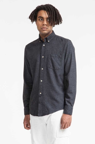 Our Legacy 1940'S Shirt Black Melange Fluff Flannel Our Legacy