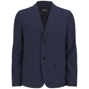 A.P.C. Men's Garcon Mi Jacket Doublee Navy Clothing Free Uk Delivery Over 50