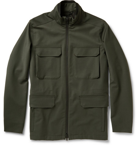 Theory Durant Coated Wool Blend Field Jacket Mr Porter