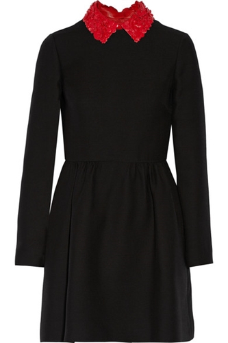 Valentino Wool And Silk Blend Mini Dress Net A Porter.Com