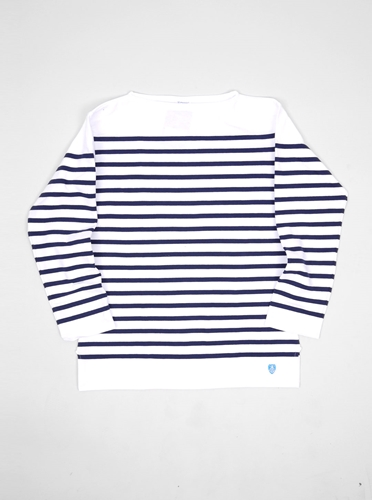Orcival Striped Jersey White Marine Present London