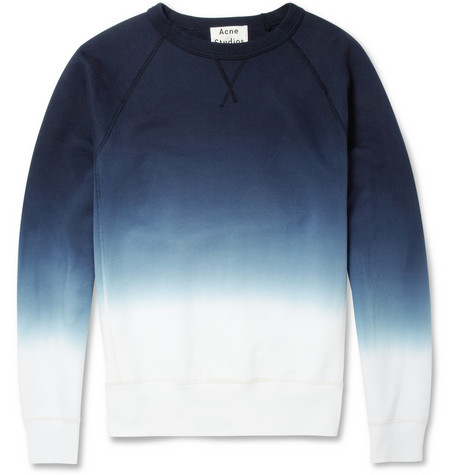 Acne Studios College Dip Dye Loopback Cotton Jersey Sweatshirt Mr Porter