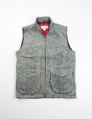 Olive Soy Wax Guide Vest Filson