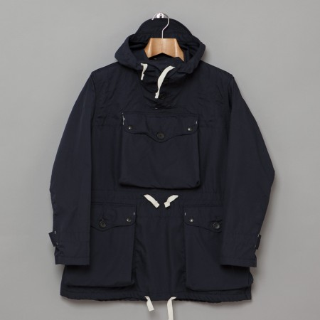 Over Parka Navy Poly Cotton Poplin Oi Polloi