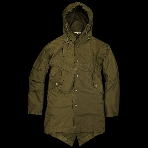 Unionmade Needles Bdu Hooded Coat With Detachable Liner In Olive