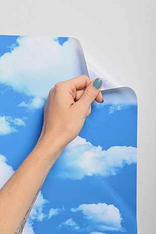 Walls Need Love Clouds Removable Wallpaper Urban Outfitters