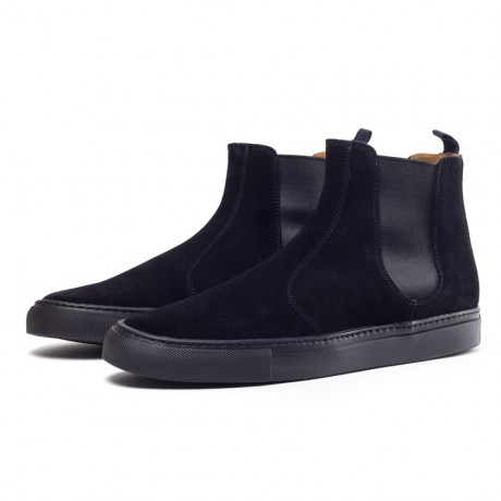 Buttero Black Suede Chelsea Boots