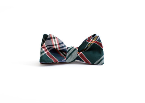 General Knot Highland Tartan Indigo Chambray Bow Tie Bow Ties Bow Ties Vetted