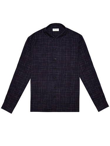 Saint Laurent Mens Sketched Square Shirt Ln Cc