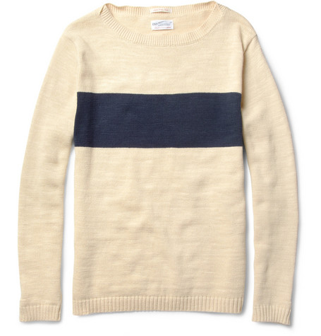 Gant Rugger Striped Knitted Cotton Sweater MR PORTER