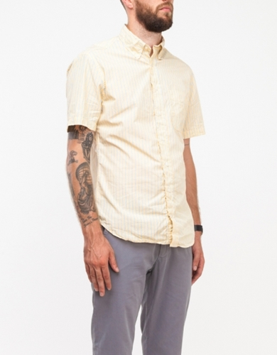 Yellow Stripe Button Down