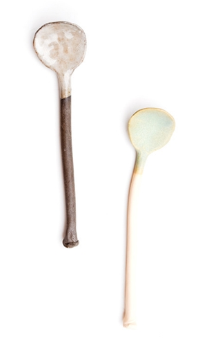 Hand Formed Ceramic Spoon Leif