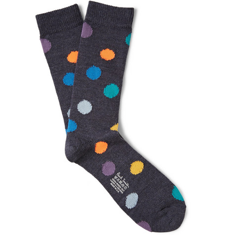 Paul Smith Shoes Accessories Polka Dot Wool Blend Socks Mr Porter