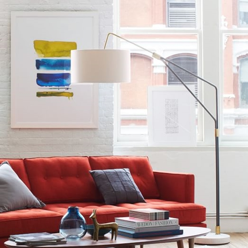 Mid Century Overarching Floor Lamp West Elm