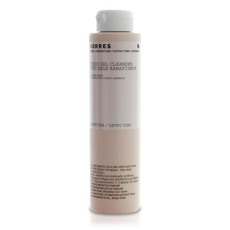 White Tea Facial Fluid Gel Cleanser From Korres Free Uk Delivery