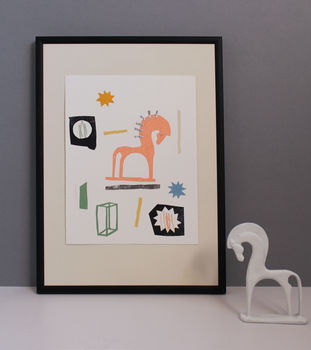 Abstract Collage Of Horse By Floss Co. Notonthehighstreet.Com