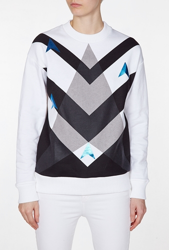 Etre Cecile Jersey Galactica Long Sleeve Sweatshirt By Etre Cecile
