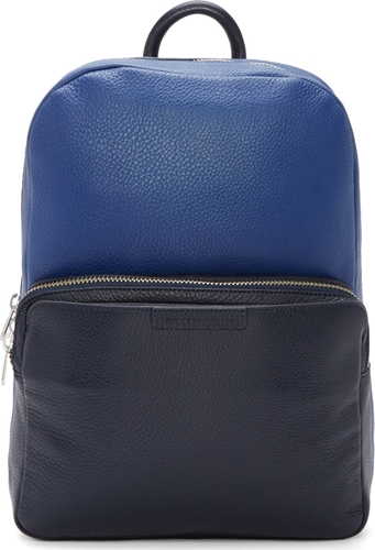 Marc By Marc Jacobs Skipper Blue Pebbled Leather Colorblock Backpack