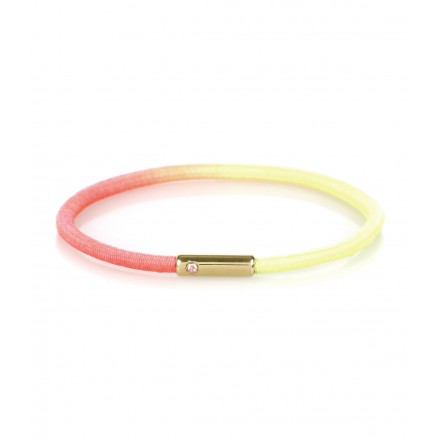 Neon Yellow Pink Gold Bracelet by Make Up Stone Designer New In Jewellery Kabiri Jewellery Store Online
